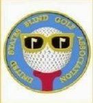 USBGA logo - ball with glasses on golf tee